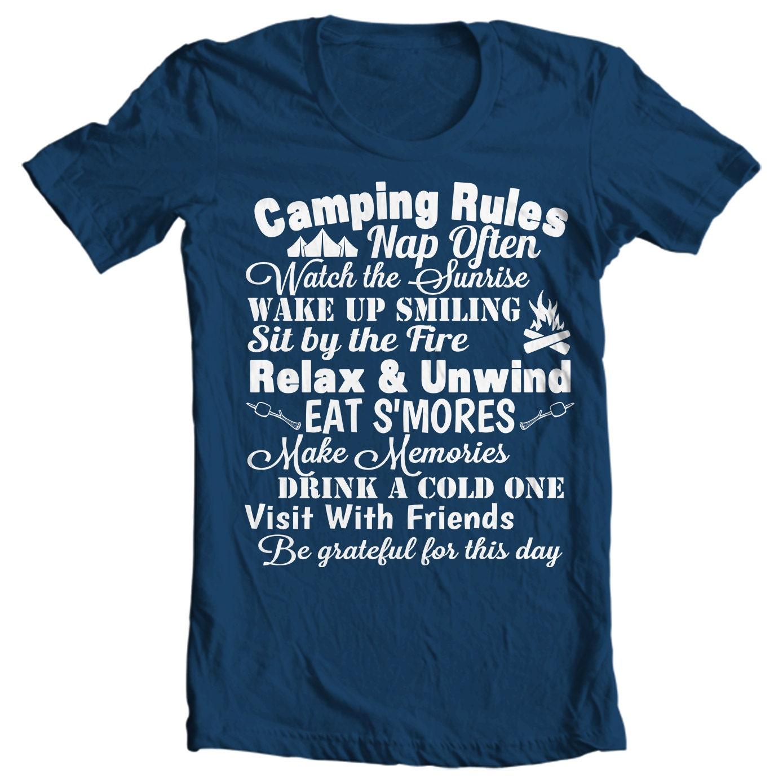 Camping Rules - Camping T-shirt