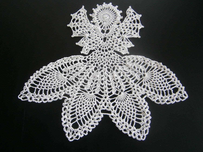 Angel Doily Handmade Crochet