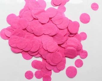 CONFETTI / HOT PINK confetti / tissue paper confetti / birthday party /  wedding party /  baby shower /  flower girl