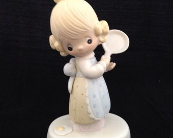 "Vintage Precious Moments ""Eggs Over Easy"" figurine with box"