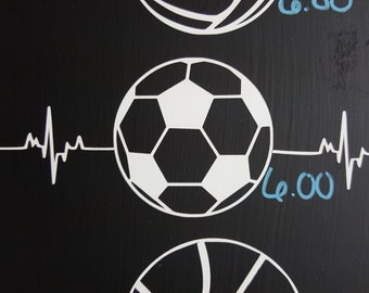 Soccer Heartbeat Decal