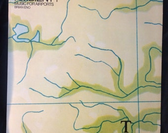 """Brian Eno - Ambient 1 :Music for airports Vintage 12"""" LP record"""