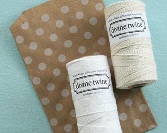 Divine Twine in White- (240 yds)
