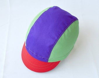 "Colorful Cycling Hat ""Galacia"". Cotton bicycle cap. Handmade hat."