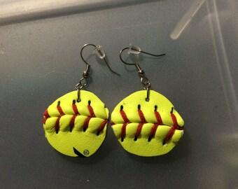Softball Dangle Earrings