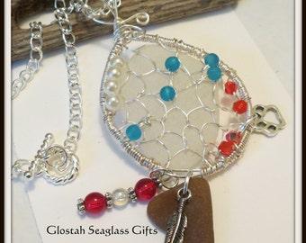 Seaglass Dreamcatcher Necklace