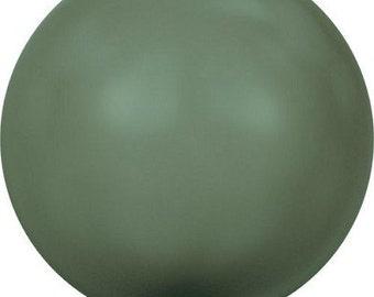 Swarovski Pearl Strands 5810 - 3mm, 4mm, 5mm, 6mm, 8mm, 10mm 12mm - Dark Green