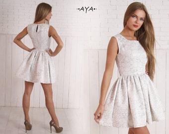 Plus size, white, milk, silver, mini, short, bachelorette party, wedding, bridal, prom,babydoll, skater, dirndl, spring,summer,evening dress