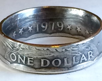 Susan B Anthony Dollar Coin Ring