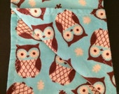 Owl or floral baby burp cloth // baby burp cloth // baby shower gift // owl baby gift // READY TO SHIP
