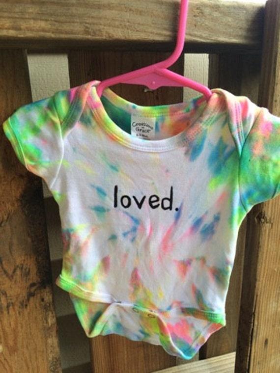 Tie Dye esie Handmade 0 3 Months Baby Clothes Hippie