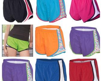 Monogrammed Running Shorts- Women's