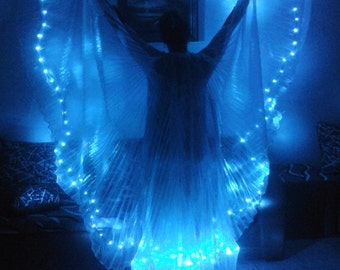 New Egyptian handmade bellydance Led Wings, dance costumes