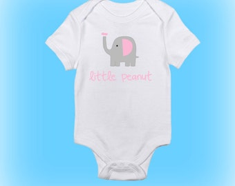 Little Peanut Onesie - New Baby Gift - Baby Shower Gift - Baby Gift Idea - Elephant Onesie - Baby Clothing-Baby Boy - Baby Girl-Newborn Gift