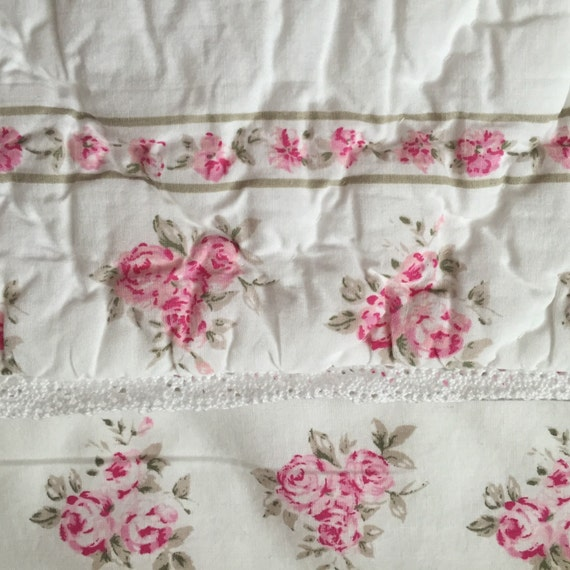 Shabby Chic Pillow Shams : Shabby Chic Quilted Pillow Sham Retired