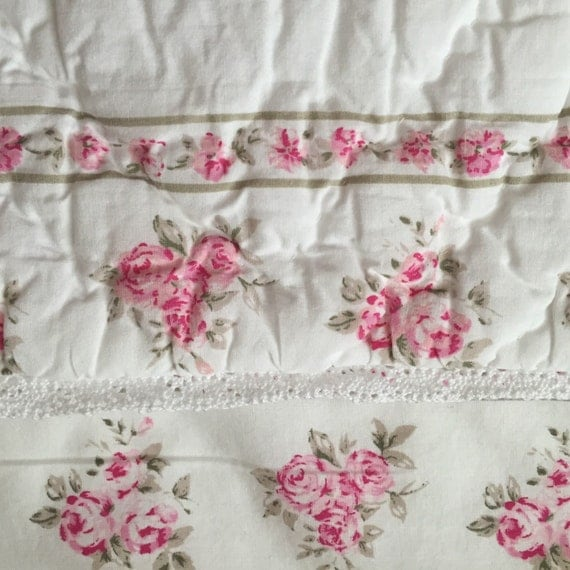 Vintage Shabby Chic Pillow Shams : Shabby Chic Quilted Pillow Sham Retired