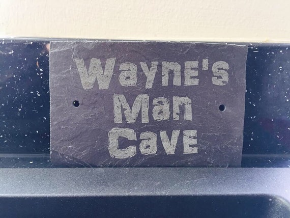 Engraved Man Cave Signs : Man cave sign personalised engraved slate outdoor shed