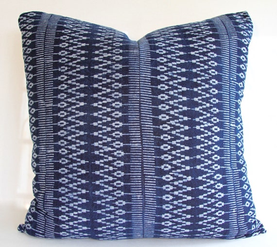 Eclectic Indigo Batik Pillow Cover