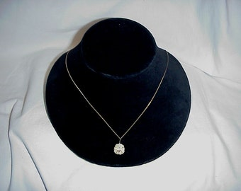 14K Sand Dollar Pendant and Necklace