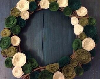 Spring Rosette Wreath