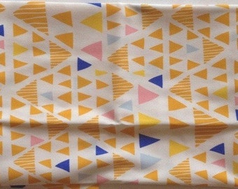 SALE- Mojave Sand, Morning Walk, Leah Duncan for Art Gallery Fabrics, bright, chevron, triangles, blue, yellow, pink