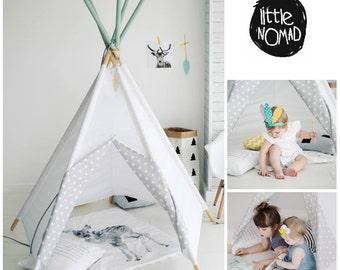 SALE, Tipi, Teepe, Wigwam, Zelt, Tent, Playtent, White, Kids teepee tents, Tipi enfant, LittleNOMAD