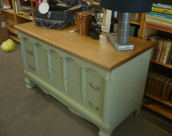 Refinished, painted 5-drawer dresser