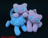 Custom Order Mew: Miniature Legendary Psychic Pokemon Pocket Plush Beanie