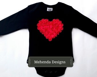 Baby girl long sleeve cotton embellished onesie bodysuit.Baby girl onesie.Embellised onesie. sizes 0000,000,00,0,1,2