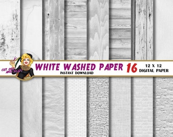 White Wash digital paper, white brick, white textures, white washed, wood, linen backgrounds, patterns, Scrapbooking Paper, wedding paper
