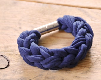 handmade braided bracelet - Navy Blue-