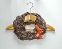 Cute fox brooch Orange fox pin Cute animal brooch Cute pin Handmade crochet animal jewelry Orange brooch Fox brooch Cute gift for girl