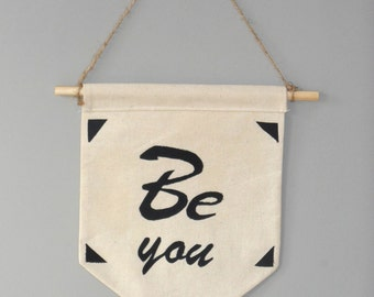 Canvas mini Inspirational wall banner