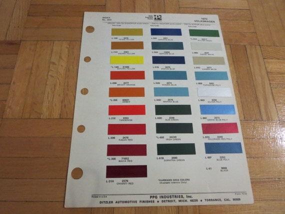 1972 volkswagen vw couleur ext rieure peinture puces fiche. Black Bedroom Furniture Sets. Home Design Ideas