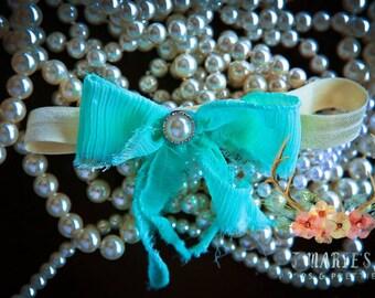 Shabby chiffon bow headband