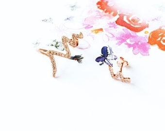 Rose Gold Heartbeat Stud Earring 925 Sterling Silver Heartbeat Flash Lightning Diamond Earring Uneven Size Earring Wedding Birthday Gift