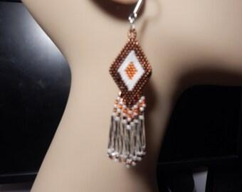 Diamond shaped earrings from Beading4Bling