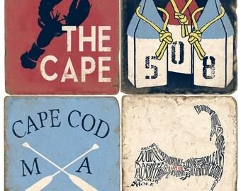 Cape Cod Italian Marble Coasters