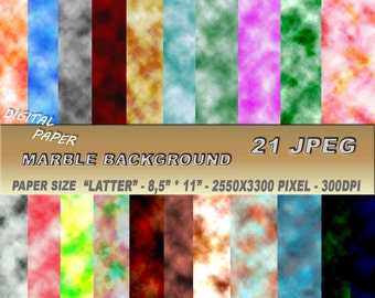 """Digital Paper: Background marble or cloudy smoke. Paper size """"latter""""- 8,5"""" * 11"""". JPEG format."""