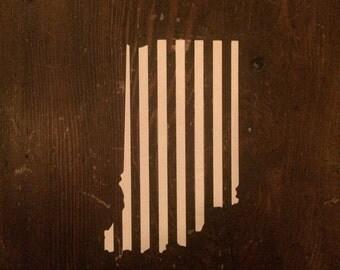 Indiana White Stripes Sticker
