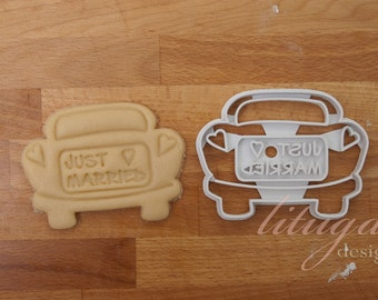 Just married! wedding cookie cutter