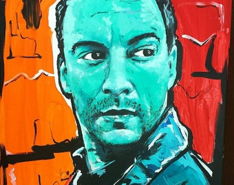 Dave Matthews Portrait Abstract Painting