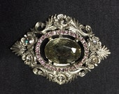 Vintage Bluette France silver rhinestone shoe clip
