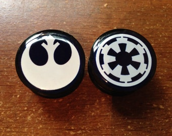Star Wars Imperial and Rebel Plugs