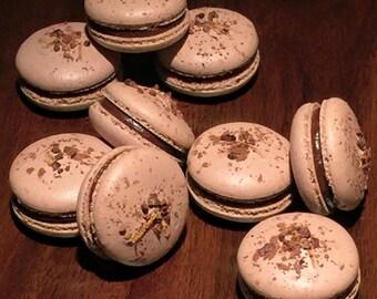 Chocolate Macaron with Orange Ganache (8 pieces)