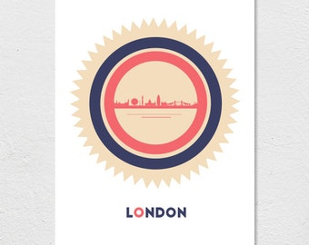 London, Underground, Skyline Print / Poster // A4/A3/A2 // 8.27 x 11.69 inches/11.69 x 16.53 inches/16.53 x 23.39 inches