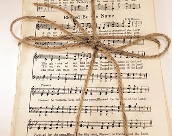50 pages from vintage Hymnals