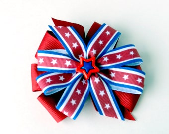 4th of July Stacked Pinwheel Bow