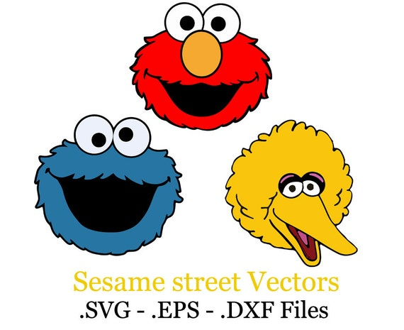 Big Bird Sesame Street Face on oscar cut outs