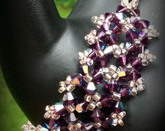 Purple Velvet Crisscross Bracelet